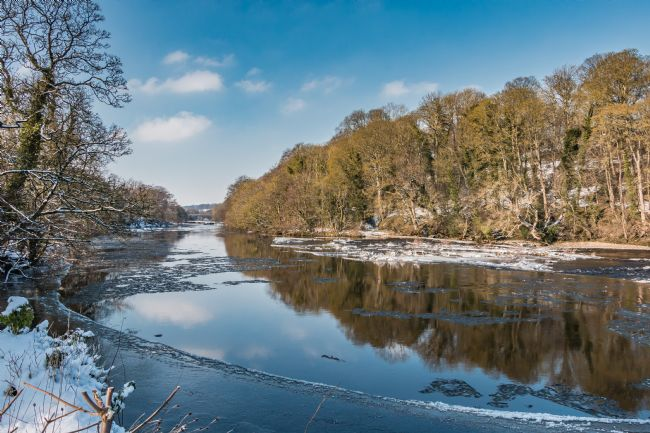 Richard Laidler | A Frozen River Tees at Wycliffe, Teesdale