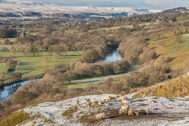 Richard Laidler | Over to Middleton and Holwick from Whistle Crag in Winter