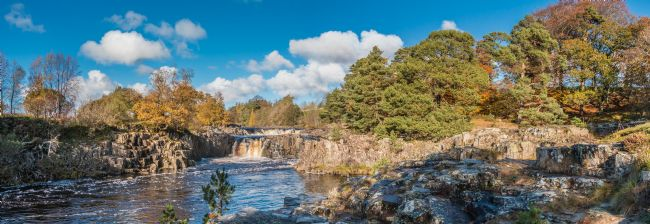 Richard Laidler | Autumn at Low Force Waterfall, Upper Teesdale Panorama