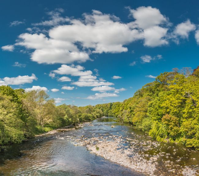 Richard Laidler | Big Sky Upstream on the River Tees at at Whorlton, Teesdale