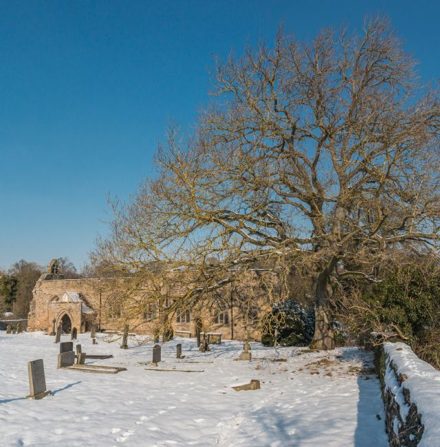 Richard Laidler | St Mary's Parish Church, Wycliffe, Teesdale in Snow