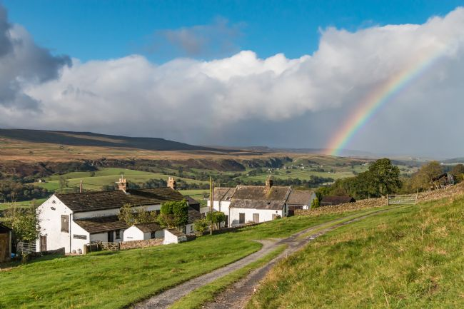 Richard Laidler | Rainbow at Holwick, Teesdale, from Arla Burn Farm