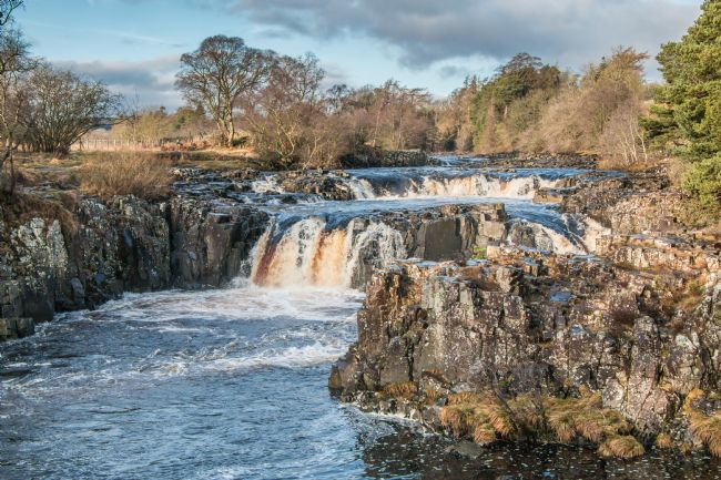 Richard Laidler | Low Force Waterfall, Teesdale in Sunshine on the Winter Solstice Dec 22 2019
