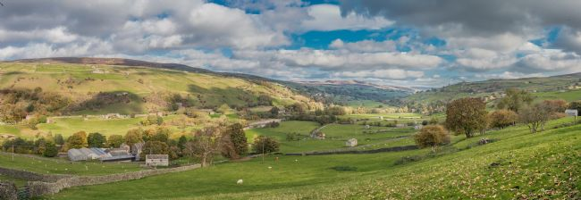 Richard Laidler | Low Row and Calver Hill, Swaledale, Yorkshire Dales Panorama