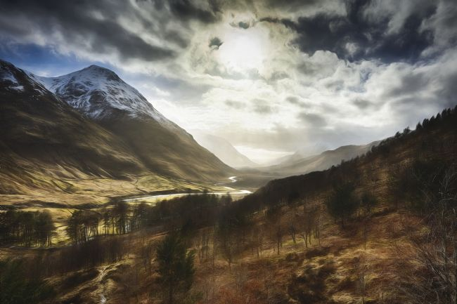 Phill Thronton | Sunshine on Glen Etive.