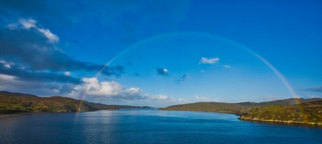 Tom Dolezal | Rainbow over the loch