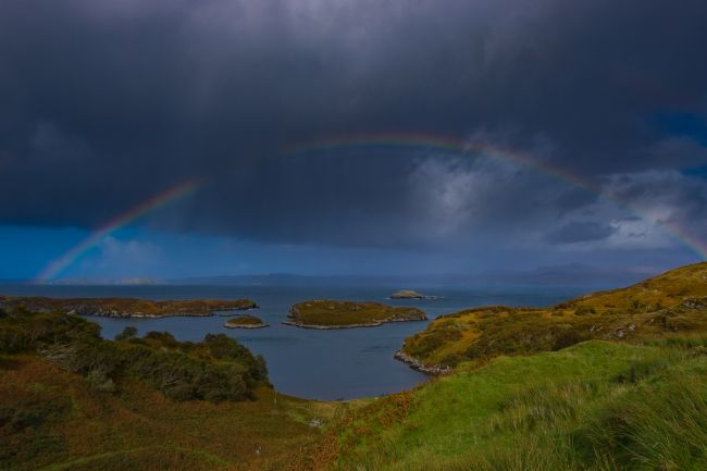 Tom Dolezal | Rainbow over Badcall Bay