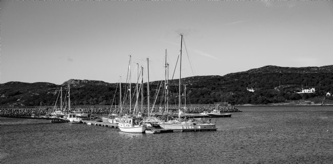 Tom Dolezal | Lochinver harbour boats - mono