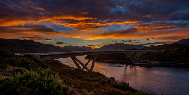 Tom Dolezal | Sunrise at Kylesku Bridge