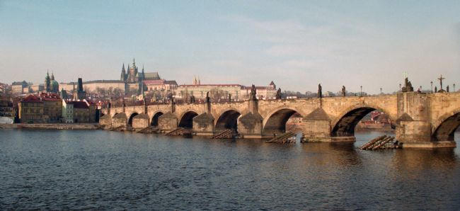 Tom Dolezal | Charles Bridge and Hradcany castle.