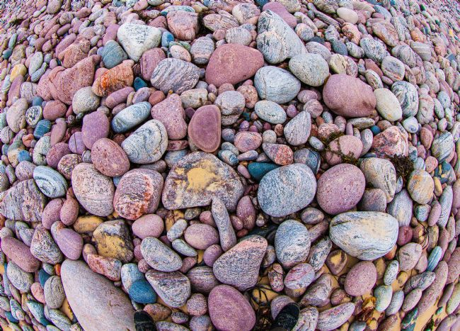 Tom Dolezal | Pebbles through a fish-eye