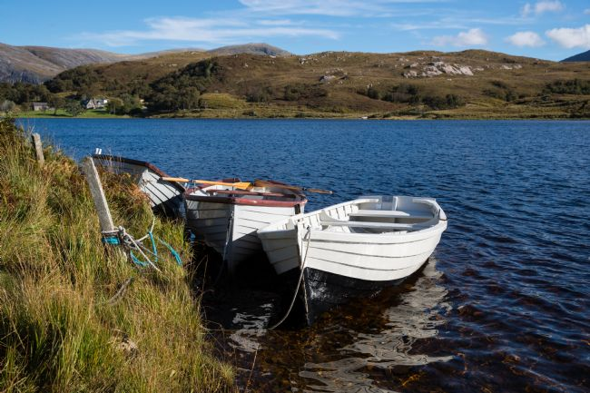 Tom Dolezal | Fishing boats at Loch Stack