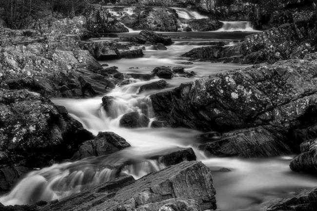 Tom Dolezal | Highland stream in mono.