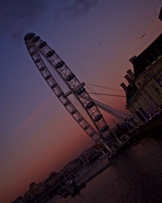 anila hussain | London Eye at sunset