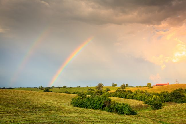 Alexey Stiop | Rainbow over farmland in Central Kentucly