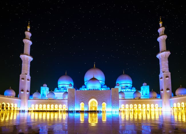 Alexey Stiop | Sheikh Zayed Grand Mosque at night