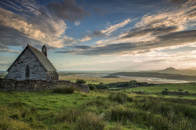 Rory Trappe | Saint Tecwyns Church with estuary