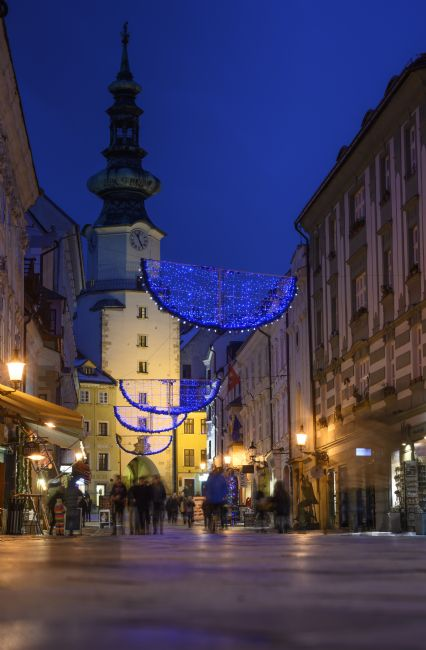 Chris  North | Bratislava old town at night.