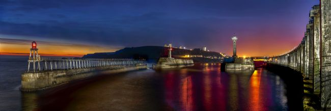 Chris  North | Sunrise over Whitby Piers and Harbour