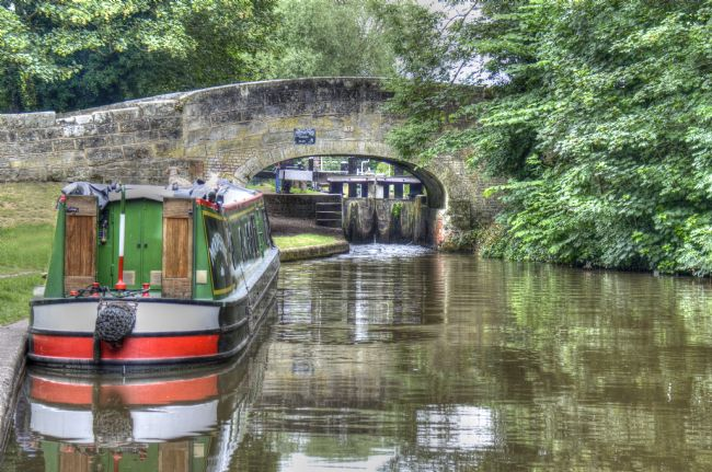 Andrew Heaps | Moored canal narrow boat