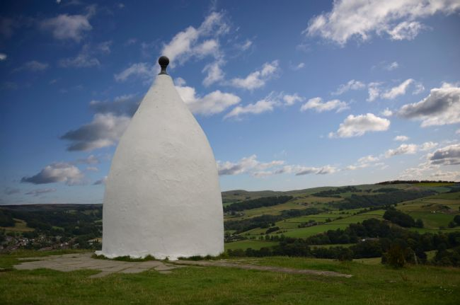 Andrew Heaps | White Nancy monument on hill