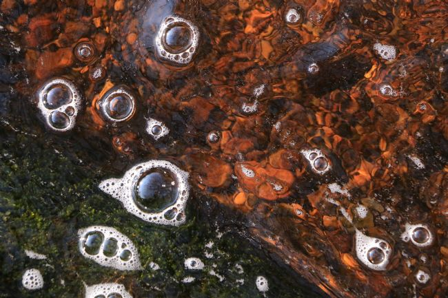 Heather Coleman | Dartmoor river water with waterfall bubbles