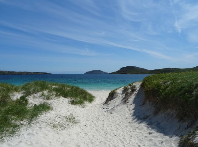 yvonne & paul carroll | White sand beach on Vatersay