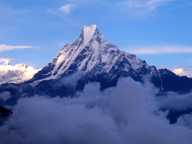 yvonne carroll | Machapuchare - the Fish Tail mountain, Nepal Himalayas