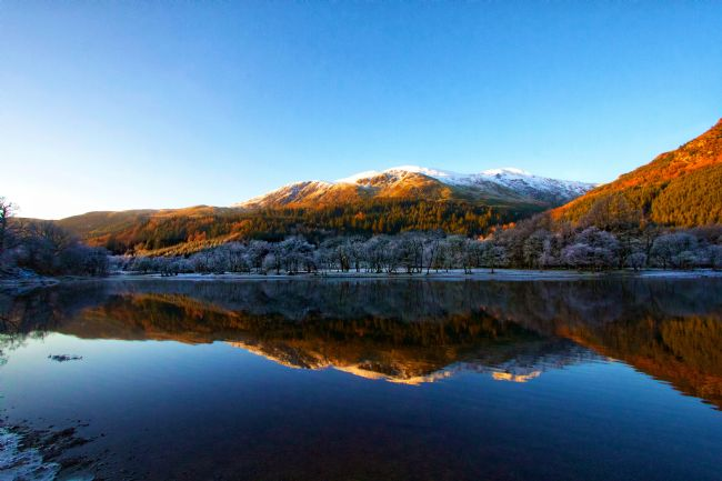 yvonne & paul carroll | Winter reflections on Loch Lubnaig
