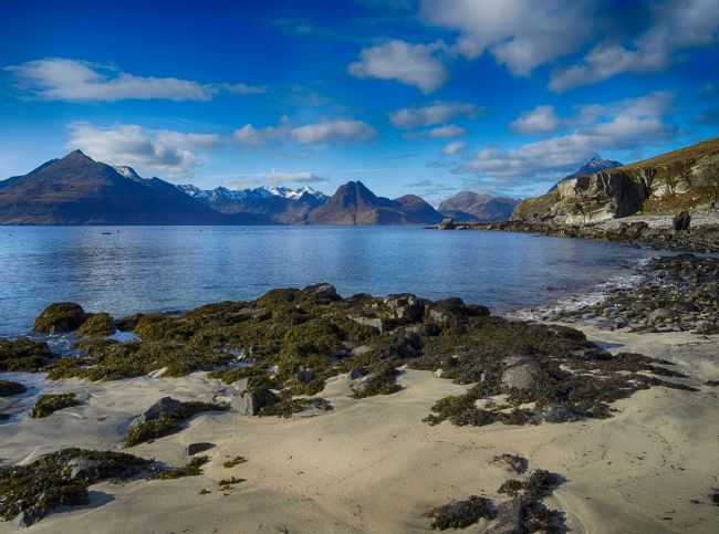 yvonne carroll | Looking to the Cuillins from Elgol beach on Isle of Skye