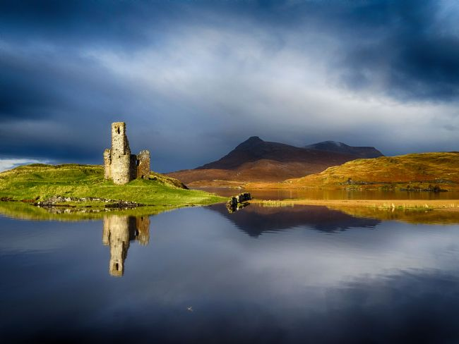 yvonne carroll | Ardvreck Castle reflections
