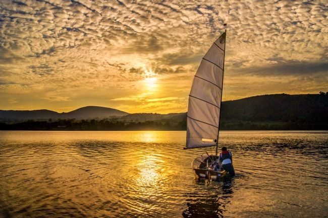 Adrian Campfield | Sunset sailor on Lake Ullswater