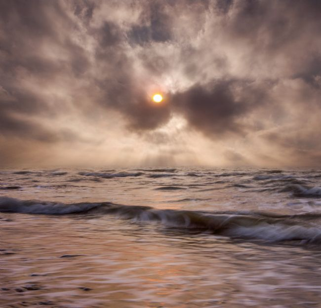 Adrian Campfield | Misty Sunrise over the Sea