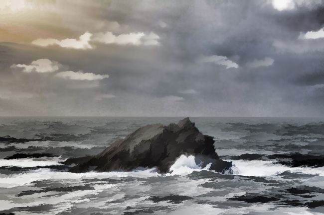 Kris Ohlsson | Rough Seas at Pentire Peninsula