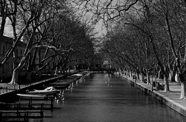 Kris Ohlsson | Annecy River Black and White