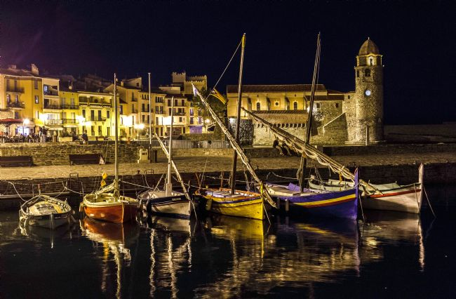 Roger Hollingsworth | Collioure Harbour on a lovely Barmy hot evening
