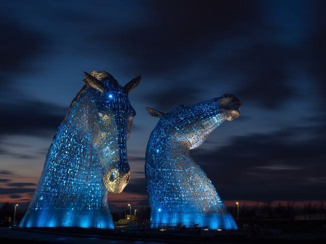 Thomas Dickson | The Kelpies at night.