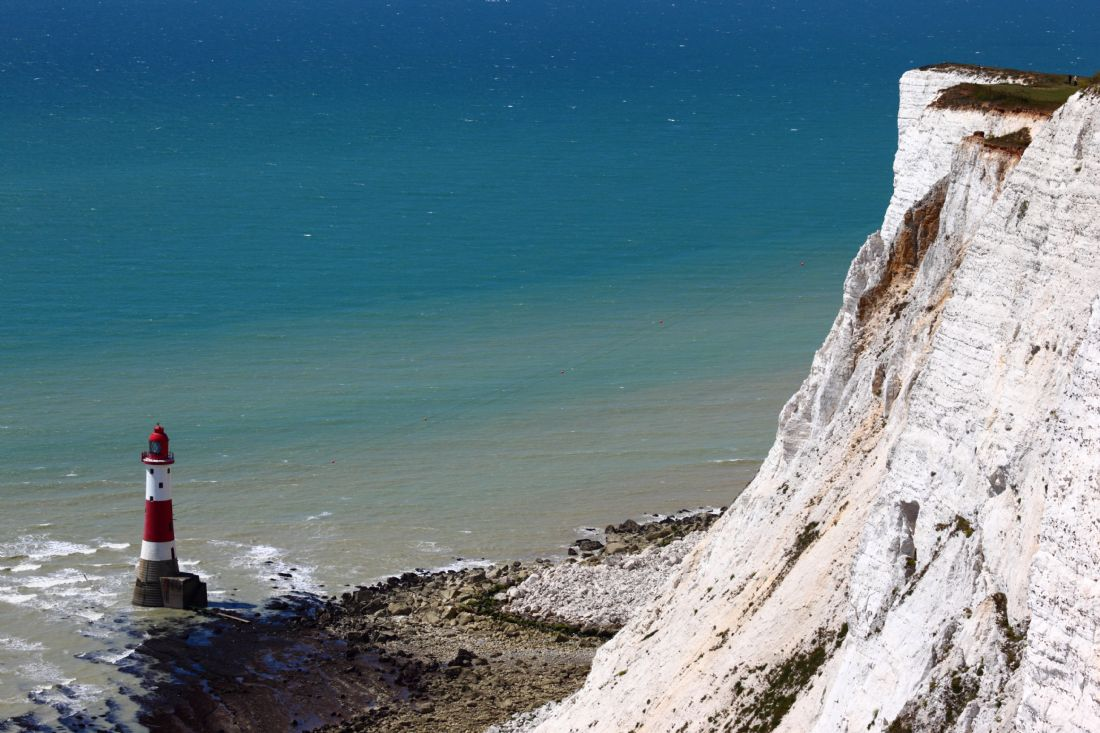 James Brunker | Chalk Cliffs at Beachy Head and Lighthouse East Sussex