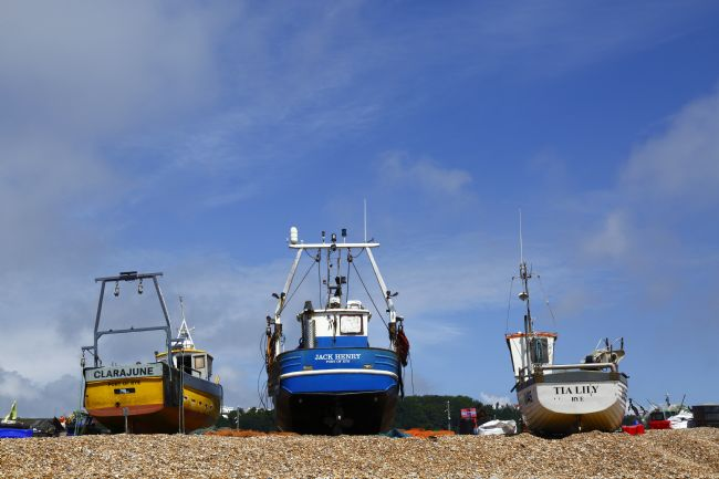 James Brunker | Fishing Boats on the beach Hastings East Sussex