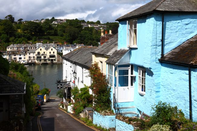 James Brunker | Blue Cottage and River Fowey Bodinnick Cornwall