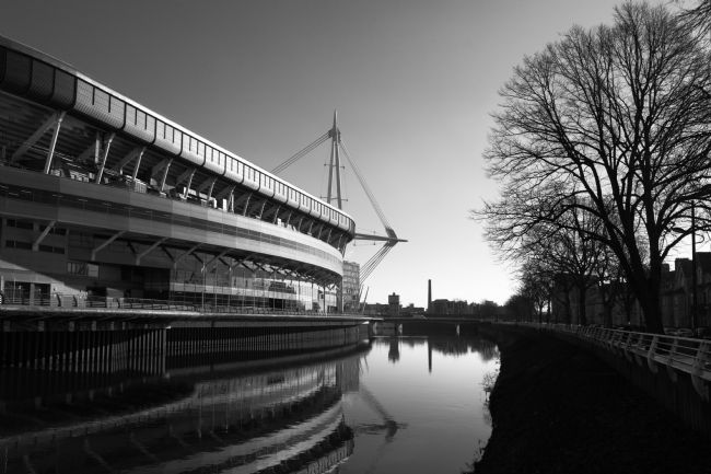 James Brunker | Millennium Stadium Reflections Black and White