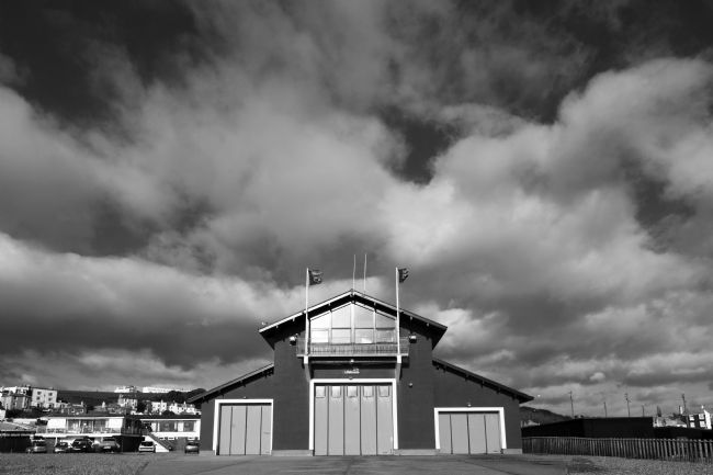 James Brunker | Lifeboat Station black and white Hastings