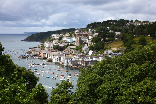 James Brunker | View of Fowey Town and Estuary Cornwall