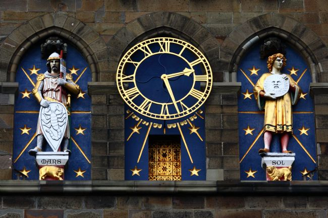 James Brunker | Mars and Sun Statues on Cardiff Castle Clock Tower