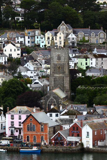 James Brunker | St Finbarr church and Waterfront Fowey Cornwall