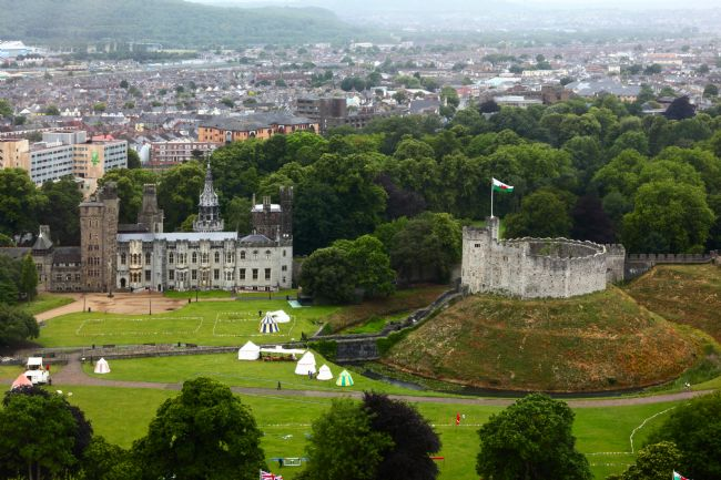 James Brunker | Aerial View Of Cardiff Castle