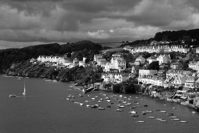 James Brunker | Fowey Suburbs and Estuary Black and White Cornwall
