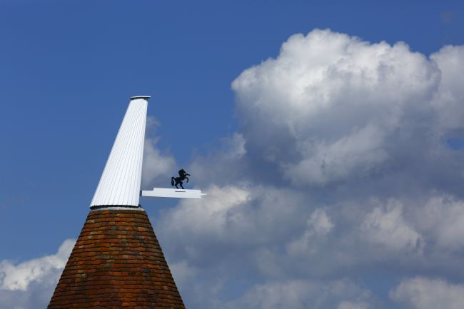 James Brunker | Oast House Cowl and Cumulus Clouds Kent