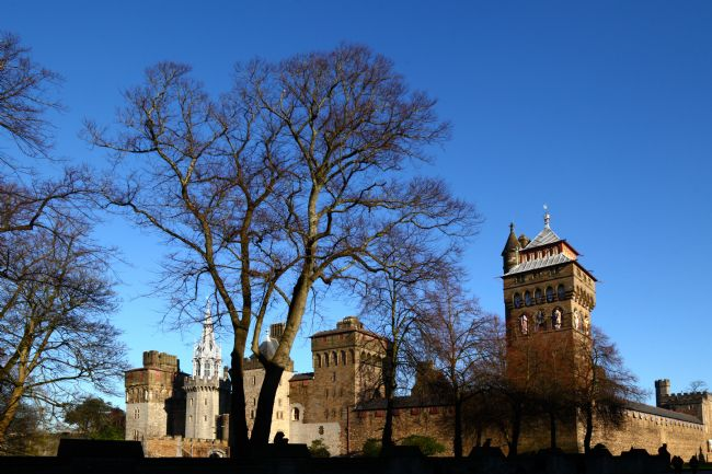 James Brunker | Cardiff Castle on a Sunny Winter Day