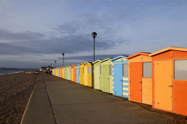 James Brunker | Beach Huts on Sea Front Seaford East Sussex